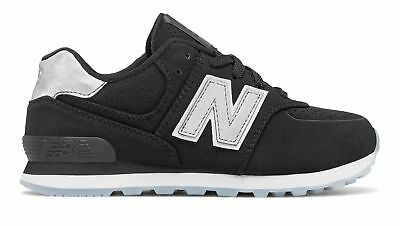 New Balance Boys 574 Luxe Rep Shoes Black