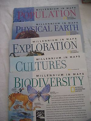 Lot of 5 MILLENIUM IN MAPS National Geographic Population Physical Earth More