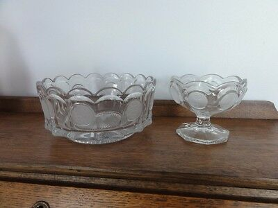 Vintage Avon Fostoria Crystal Coin Serving Bowl And Matching  Candy Dish