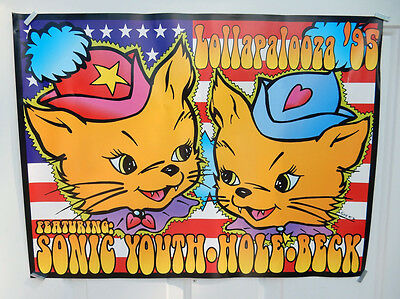 3 Left! 24x18 Lollapalooza 1995 Event Poster SONIC YOUTH BECK art by FRANK KOZIK