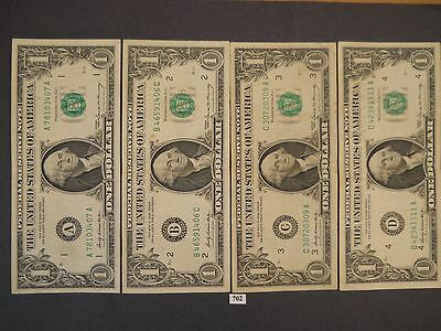 1969 $1 Dollar Federal Reserve Notes  - 12 Districts