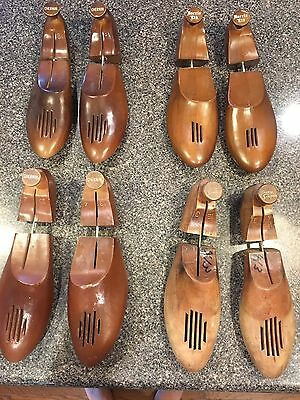 Lot Of 4 Pair Vintage Barrie Chernin French Shriner Shoe Tree Wood Size XL