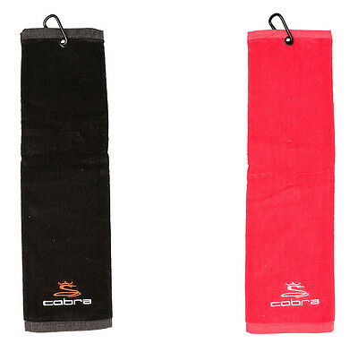 "COBRA TRI-FOLD GOLF TOWEL 20"" x 5.5"" NEW 2017 - PICK YOUR COLOR!!"