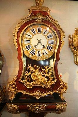 Antique (18Th Century) Signed French Boulle Console Clock-Free Worlwide Shipping
