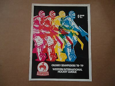 WIHL Calgary Stampeders 1978-79 Hockey Program (vs U of Alberta)