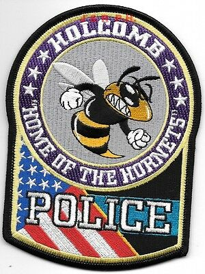 "Holcomb, MO ""Home-Hornets"" (4"" x 5.25"" size) shoulder police patch (fire)"
