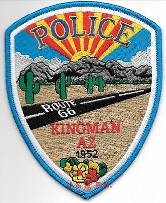 "Kingman, Arizona  ""Route 66"" (4"" x 5"" size) shoulder police patch (fire)"