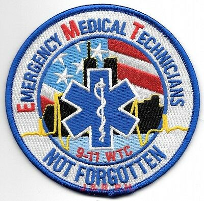 """Tribute - Emergency Medical Tech's. """"Not Forgotten""""  (4"""" round) (fire)"""