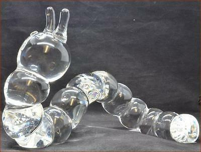 Large Steuben Glass Caterpillar * It's A Big Wonderful Example Signed