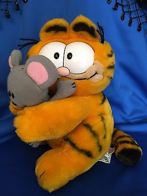 Vtg Garfield Dakin Hugging Squeak Mouse Plush Stuffed 80's ~ Rare