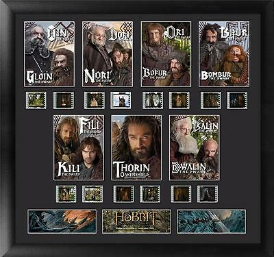 The Hobbit An Unexpected Journey Large Dwarves Film Cell Montage