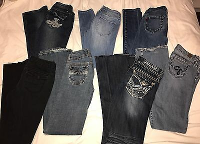 Lot of 7 Juniors Jeans Size 3/5/26 Guess | BDG | Hydraulic | Almost Famous