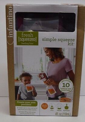 Infantino Fresh Squeezed Simple Squeeze Kit  New