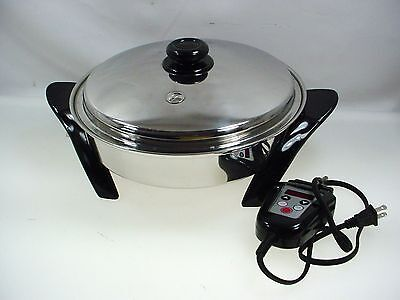 Saladmaster Electric Skillet Sa012Ocu Frying Pan W-Lid Oil Filled 12""