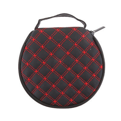 Disc Storage Round Bag Carry Wallet CD DVD VCD 20 Sleeves Case for Car Red