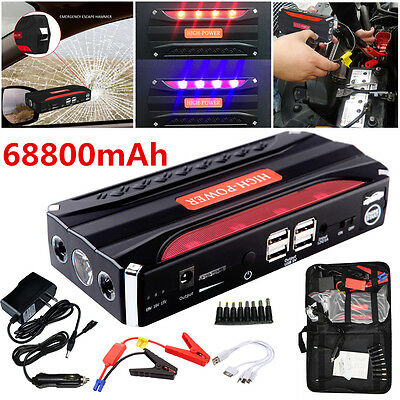 Portable Emergency Top 68800mAh Car Jump Starter Power Bank CAR Charger Adapter