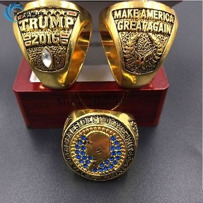 2016 USA President  Donald Trump RING Make America Great Again W/ DISPLAY BOX