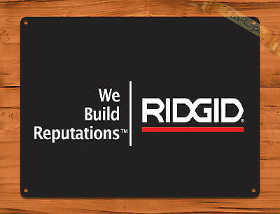 "TIN-UPS TIN SIGN ""Rigid Tools Logo"" Vintage Rustic Wall Decor"