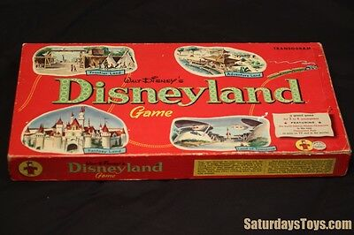 1955 - 1959 Walt Disney DISNEYLAND Board Game Transogram Instructions Spinner