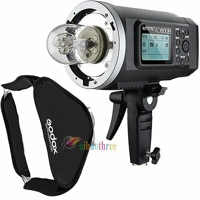 Godox AD600B 600W TTL 1/8000s Studio Flash Strobe Light + 80x80cm Softbox Bowens