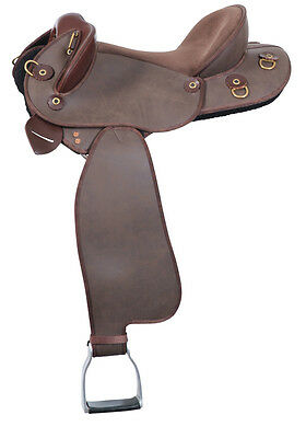Ammo Pro Synthetic Swinging Fender Saddle 17'' Brown (NEW)