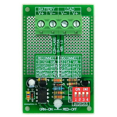 Low Voltage Disconnect Module LVD, 12V 30Amp, Based on MCU and MOSFET.