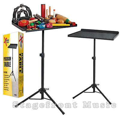 Xtreme Professional Heavy Duty Percussion Table /stand. Height Adjustable
