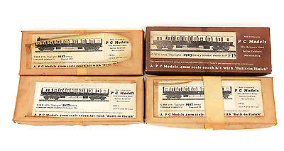 Vintage PC Models LOT of 4 Kits 4mm Scale 00 GWR 57 Ft. Toplight 1927 Livery