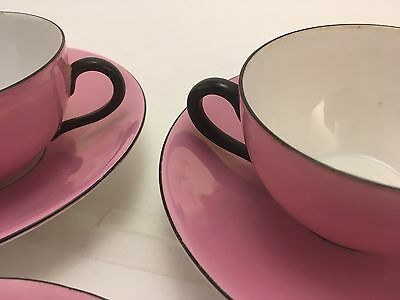 ART DECO J. Rieber Co. Selb Mitterteich BAVARIA Teapot & Cups & Saucers Luster