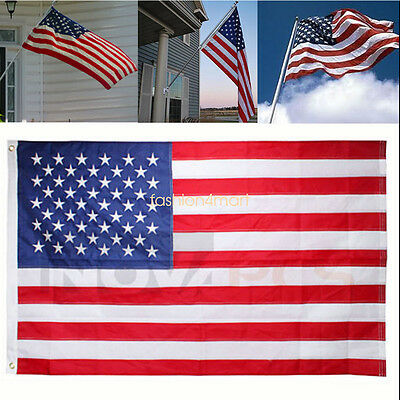 American Flag 3'x5' FT USA US U.S. Stripes Printed Stars Brass Grommets 4.July