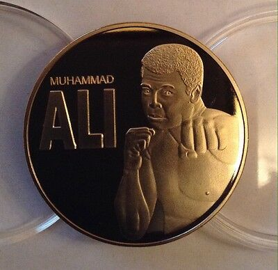 Muhammad Ali 24k Gold Plated Medal Coin Heavy Weight Boxing Champion New