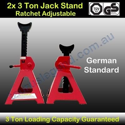 2x 3 Ton Car Truck Jack Stand Ratchet Adjustable Lift Hoist Heavy Duty Steel