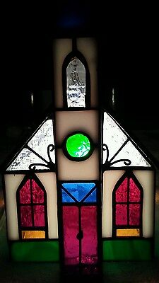 Stained Glass Genuine village collection stained glass art stained glass designs