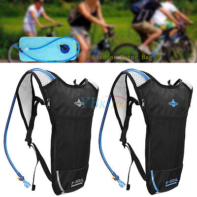 Hot 2L Water Bladder Bag 5L Backpack Hydration Back Pack Hiking Camping Cycling