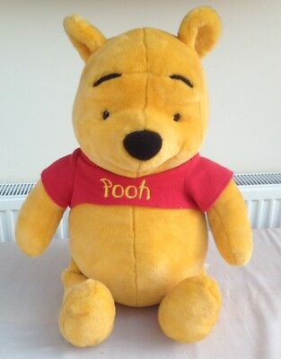 "Large TALKING Winnie the pooh Bear soft toy talking plush cuddly toy 24"" Tall."