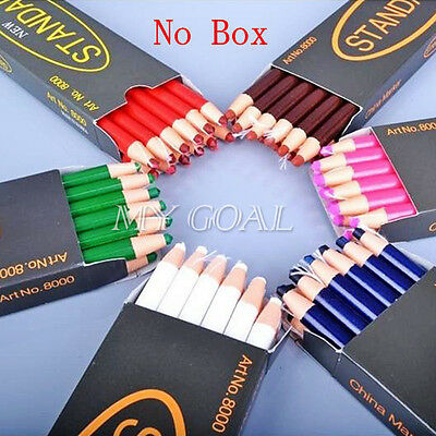 6X China Markers Peel Off Chinagraph Grease Wax Pencil For Metal Glass Fabric