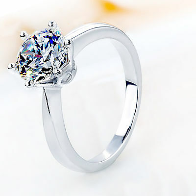 Wholesale Fashion 925 Solid Sterling Silver Ring Women Beautiful Gift Size 5-8