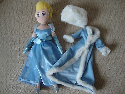 Disney Princess Cinderella plush doll - 21 inches, with coat and hat