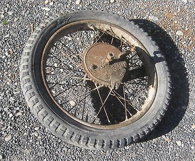 roue arriere moto collection années 30 TERROT 350 500