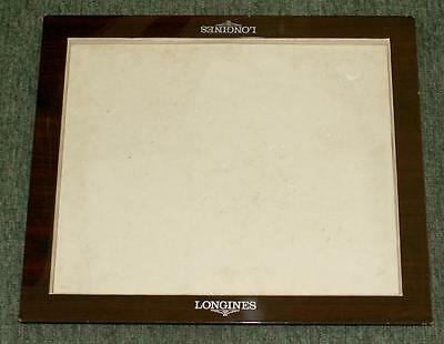LONGINES WATCH DISPLAY TRAY / WORK REPAIRER TRAY - Ex-jewellers. Polished Wood