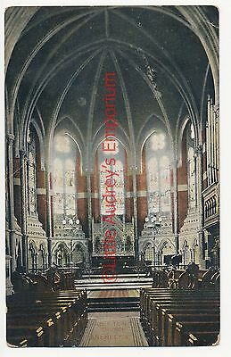 Postcard Holy Trinity Church Anerley Interior Colour Tinted Posted 1911 RP AJ037