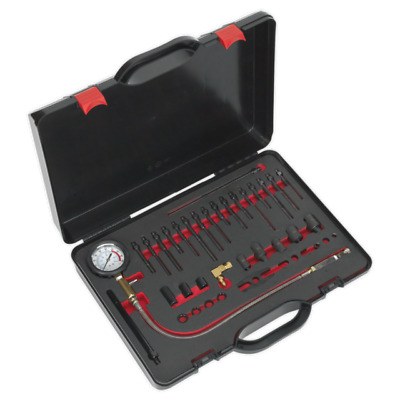 Sealey Tools VSE3158 Diesel Compression Test Kit Glow Plug & Injector Adaptors