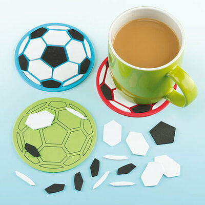 Football Mosaic Coaster Kits for Children's Crafts Creativity Gifts (Pack of 6)