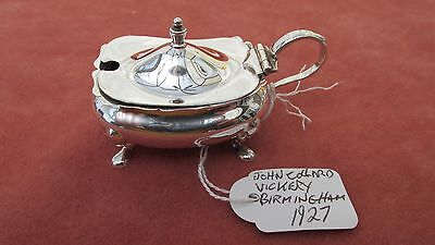 A Superb Solid Silver George V Mustard Pot by J.C. Vickery HM Birmingham 1927