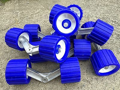 4 Complete Genuine Roller Bunk arms and rollers for boat trailer