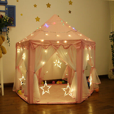 280 +Sold◇230T LED Light Children Play Tent Princess Playhouse Wigwam Party Gift