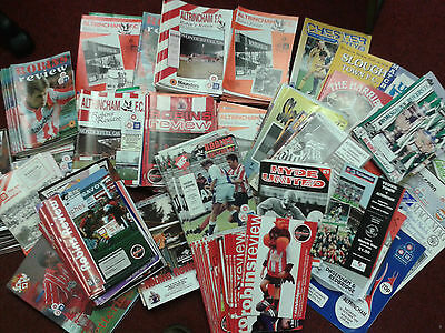 Collection of 300 plus Altrincham FC programmes 1988 - 1995 home & away