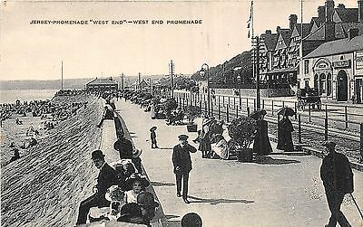 POSTCARD   JERSEY   West  End  Promenade