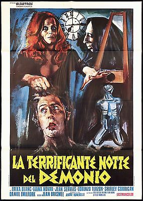 La Terrificante Notte Del Demonio Manifesto Cinema Horror 1971 Movie Poster 2F