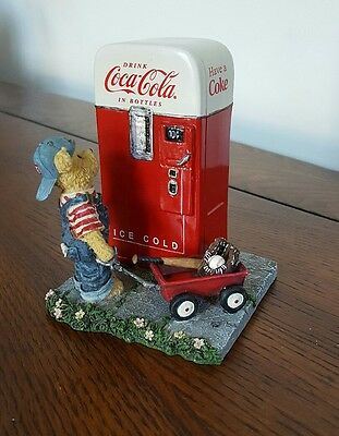 """Coca Cola Boyds Bears- """"Billy...the Pause that Refreshes"""" Figurine"""